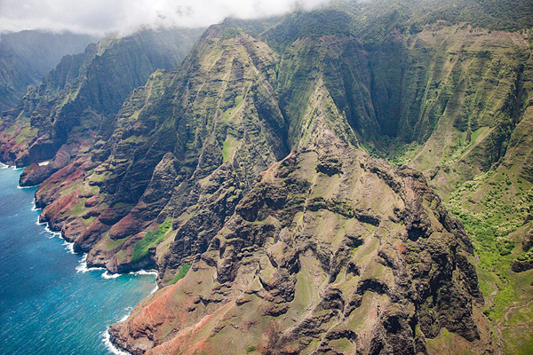Aerial View of Kauai's Napali Coast