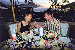 A Romantic Sunset Dinner in Hawaii
